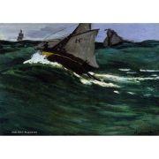Pôster Decorativo A4 The Green Wave - Claude Monet Cosi Dimora