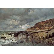 Pôster Decorativo A4 The Headland of the Heve at Low Tide - Claude Monet Cosi Dimora