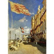 Pôster Decorativo A4 The Hotel des Roches Noires at Trouville 1870 - Claude Monet Cosi Dimora