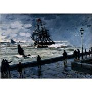 Pôster Decorativo A4 The Jetty at Le Havre Bad Weather 1870 - Claude Monet Cosi Dimora