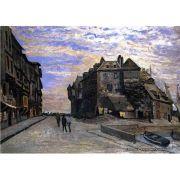 Pôster Decorativo A4 The Lieutenancy at Honfleur - Claude Monet Cosi Dimora