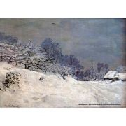 Quadro Decorativo A4 The Road in Front of Saint Simeon Farm in Winter - Claude Monet Cosi Dimora