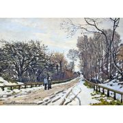 Pôster Decorativo A4 The Road to the Farm of Saint Simeon 1 - Claude Monet Cosi Dimora