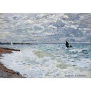 Quadro Decorativo A4 The Sea at Saint Adresse - Claude Monet Cosi Dimora
