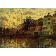 Pôster Decorativo A4 Zaandam the Dike Evening - Claude Monet Cosi Dimora