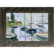 Quadro Decorativo A4 Boats at Rest at Petit Gennevilliers - Claude Monet Cosi Dimora