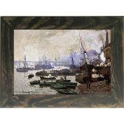 Quadro Decorativo A4 Boats in the Pool of London 1871 - Claude Monet Cosi Dimora