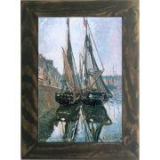 Quadro Decorativo A4 Fishing Boats at Honfleur - Claude Monet Cosi Dimora