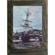 Quadro Decorativo A4 Gestrandetes Boot in Fecamp - Claude Monet Cosi Dimora