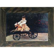 Quadro Decorativo A4 Jean Monet on a Mechanical Horse 1872 - Claude Monet Cosi Dimora