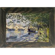 Quadro Decorativo A4 Seine at Rouen - Claude Monet Cosi Dimora
