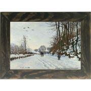 Quadro Decorativo A4 The Road to the Farm of Saint Simeon in Winter - Claude Monet Cosi Dimora