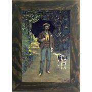 Quadro Decorativo A4 Victor Jacquemont Holding a Parasol - Claude Monet Cosi Dimora