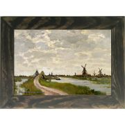 Quadro Decorativo A4 Windmills at Haaldersbroek Zaandam - Claude Monet Cosi Dimora