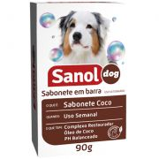 Sabonete Coco 90g Sanol Dog Pet Un/1