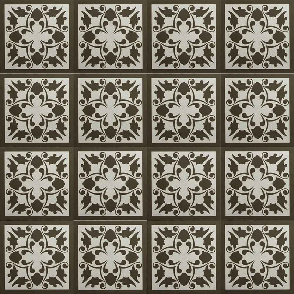 Adesivo para Azulejo Ladrilho Hidráulico Málaga Vinil 15x15cm 16 peças Cosi Dimora