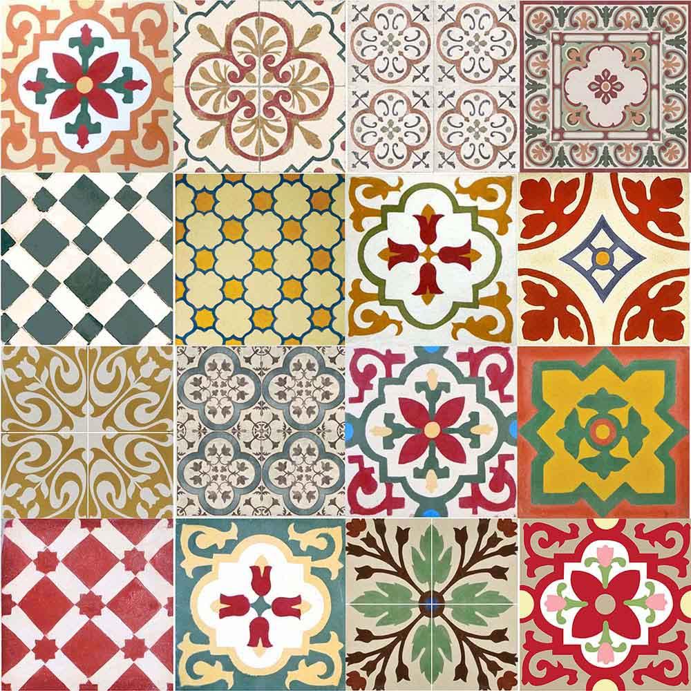 Adesivo para azulejo ladrilho hidr ulico mosaico cores for Azulejo 15x15
