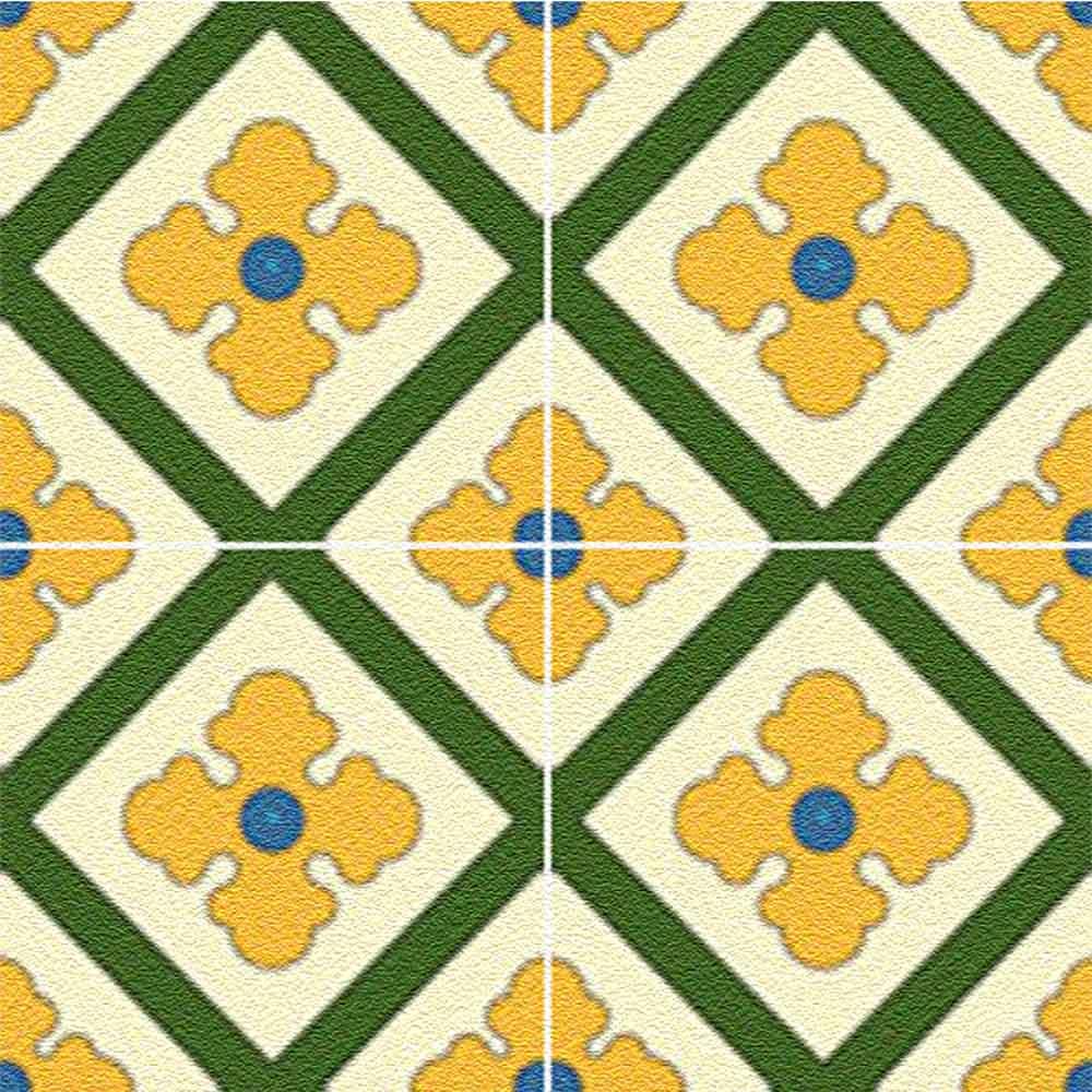 Adesivo para Azulejo Ladrilho Hidráulico Moderno Mosaico Single Vinil 15x15cm 16 peças Cosi Dimora
