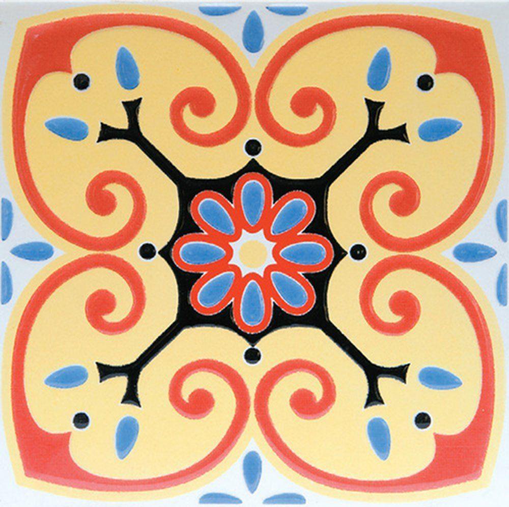Adesivo para Azulejo Ladrilho Hidráulico Toledo Vinil 15x15cm 16 peças Cosi Dimora