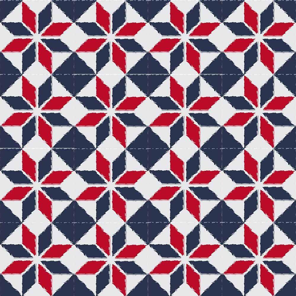 Adesivo para Azulejo Moderno Estrelar Vinil 15x15cm 16 peças Cosi Dimora