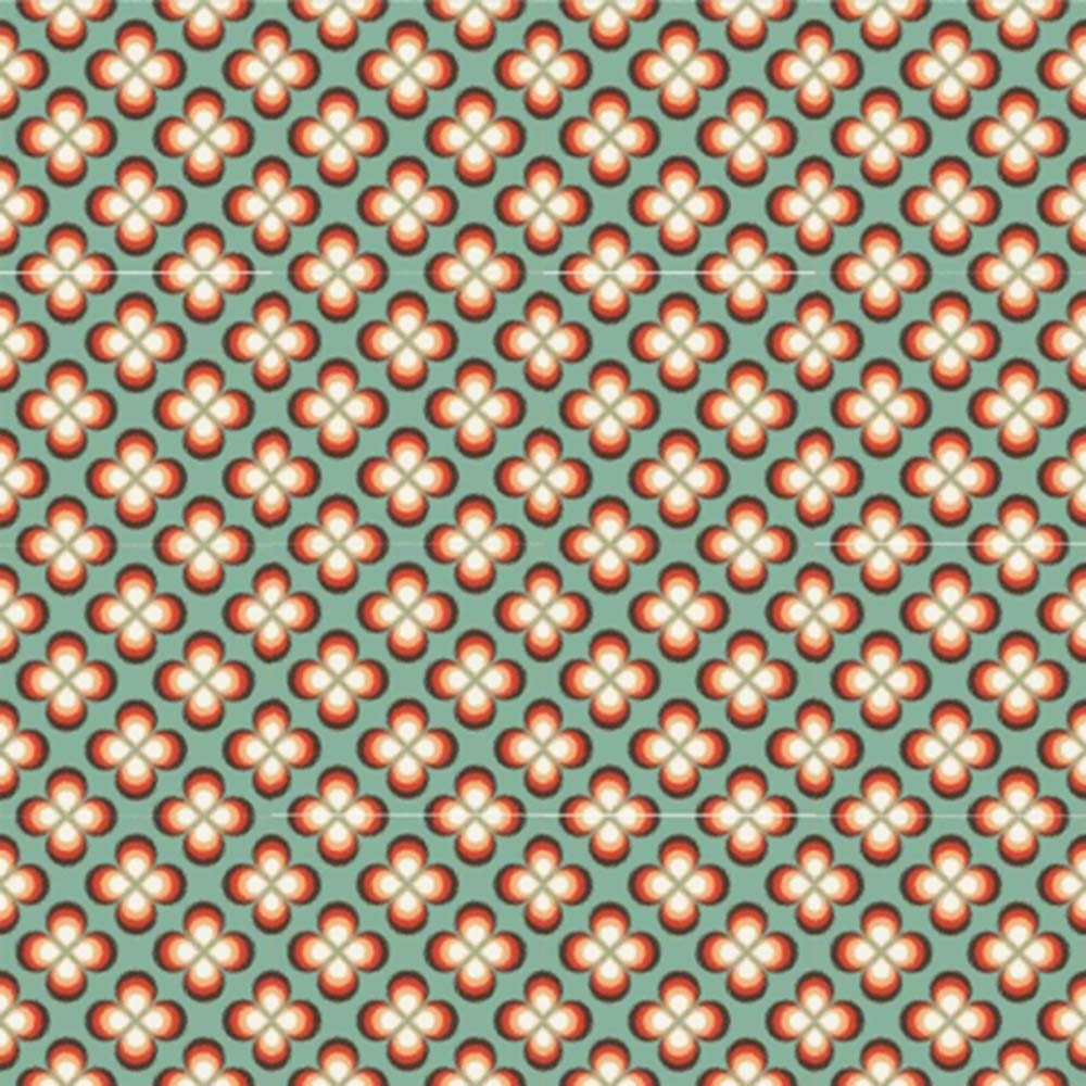 Adesivo para Azulejo Moderno Floral Vinil 15x15cm 16 peças Cosi Dimora