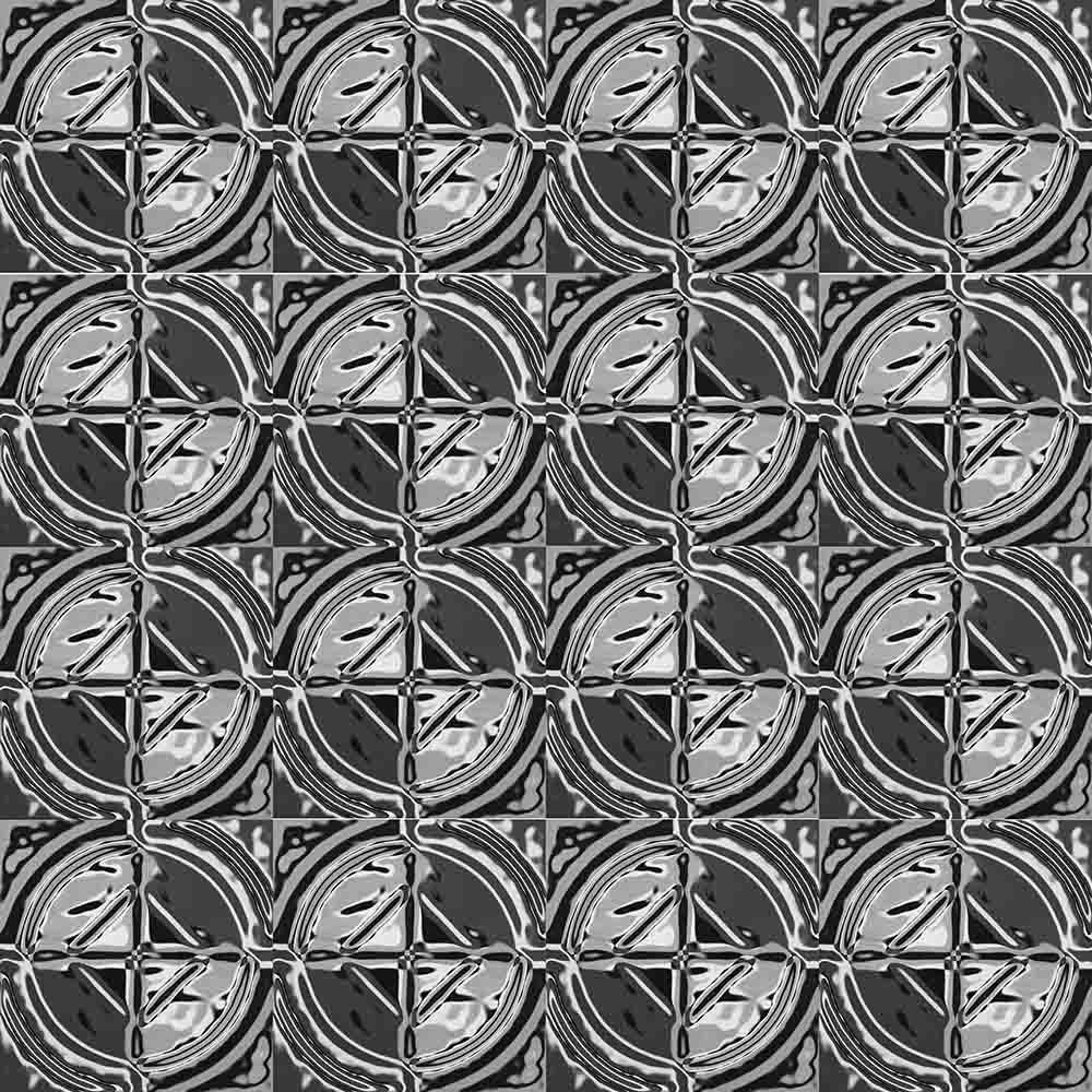 Adesivo para Azulejo Moderno Níquel Vinil 15x15cm 16 peças Cosi Dimora