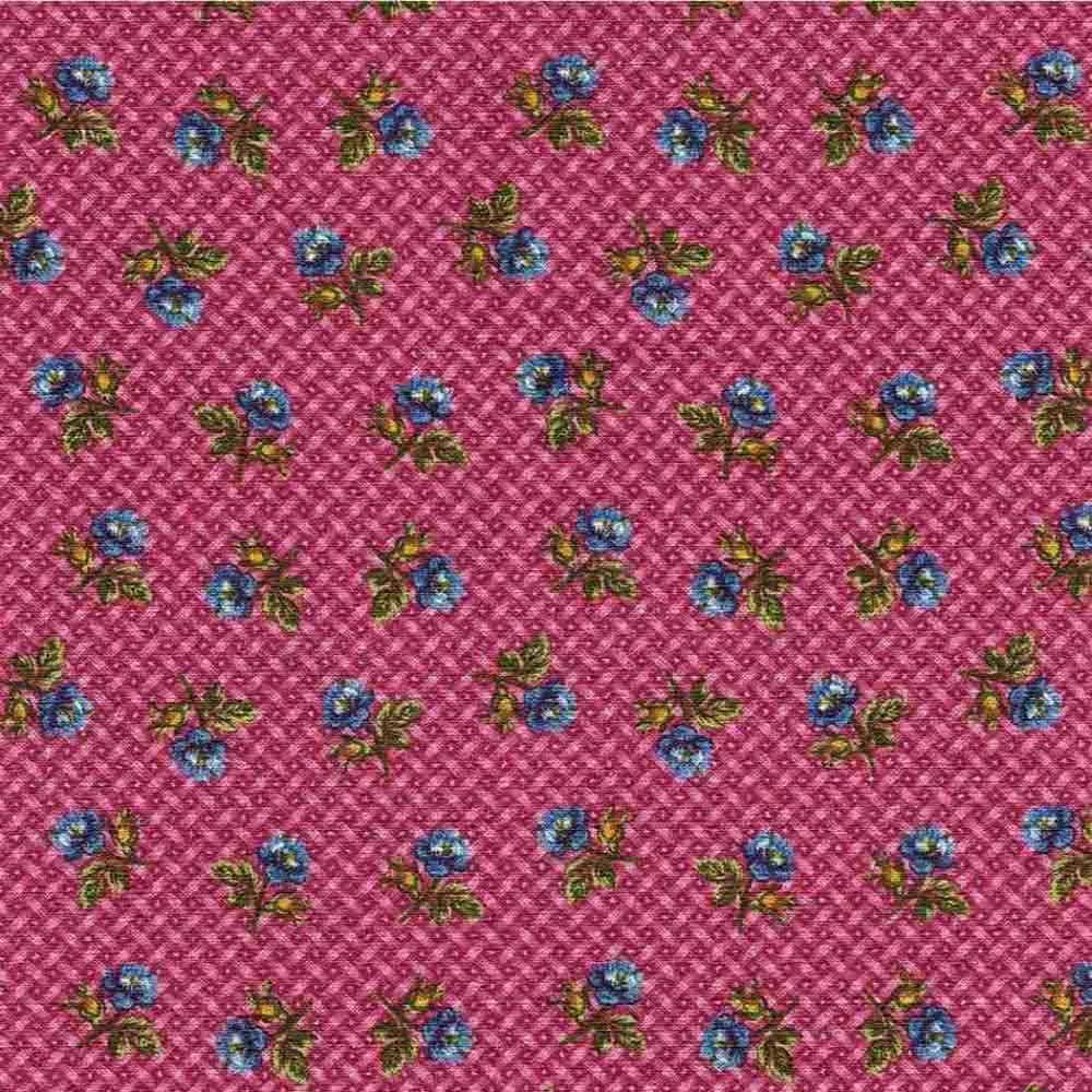 Adesivo para Azulejo Patchwork Floral Rosa Vinil 15x15cm 16 peças Cosi Dimora