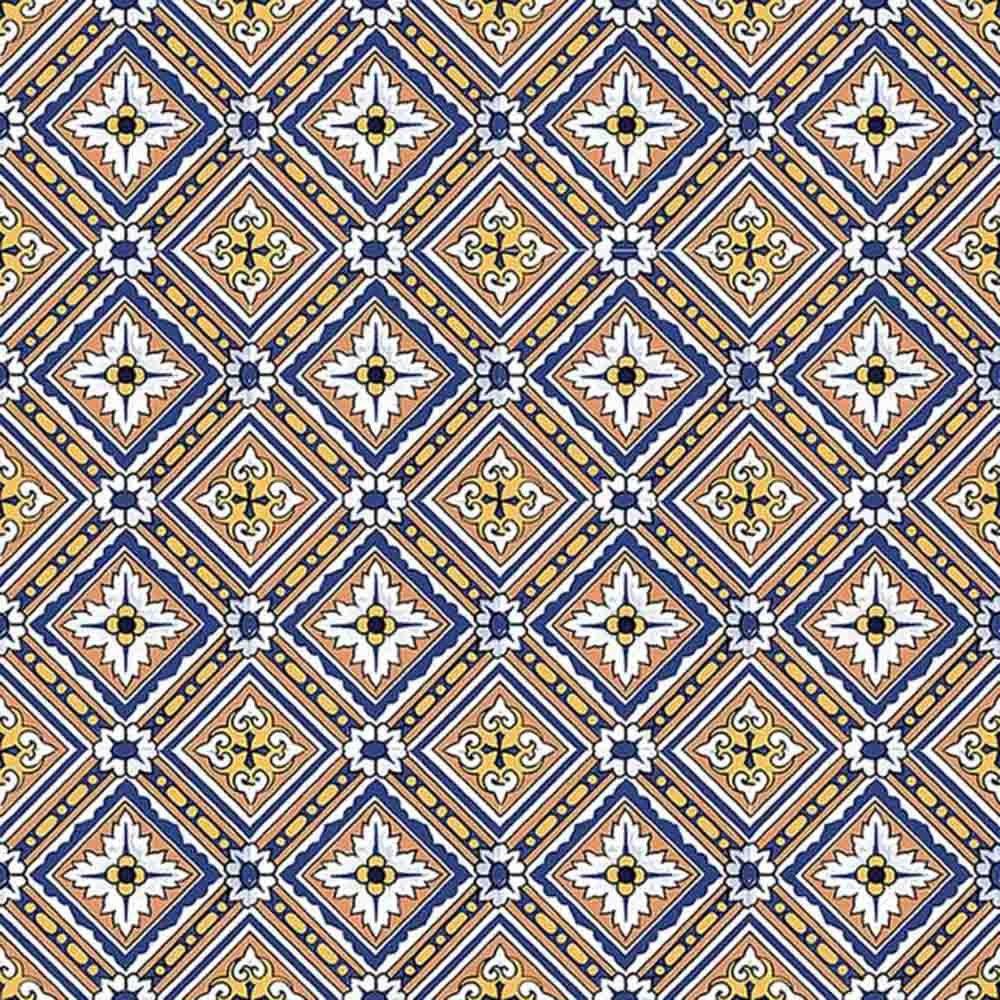 Adesivo para Azulejo Português Bragança Vinil 15x15cm 16 peças Cosi Dimora