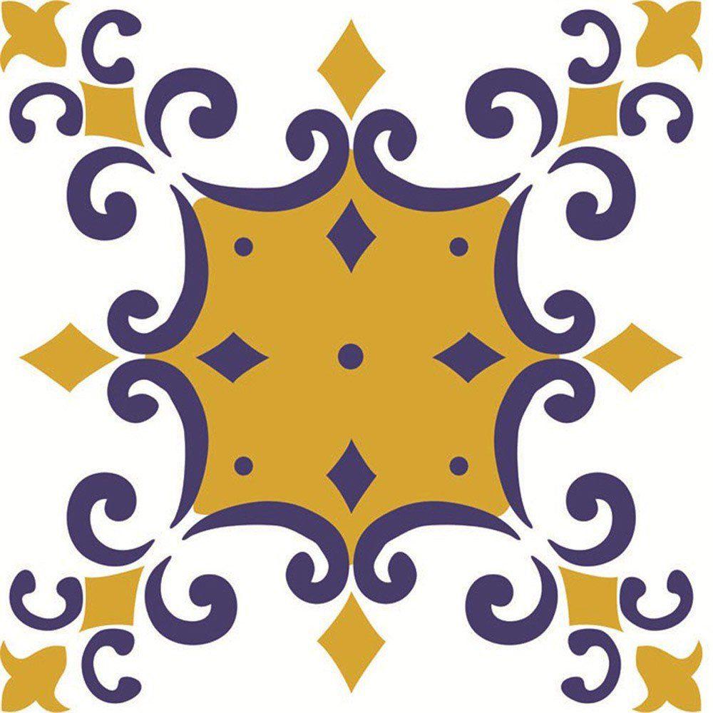 Adesivo para Azulejo Português Douro Vinil 15x15cm 16 peças Cosi Dimora
