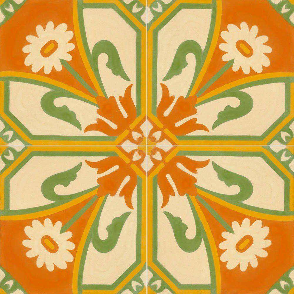 Adesivo para Azulejo Português Evora Vinil 15x15cm 16 peças Cosi Dimora