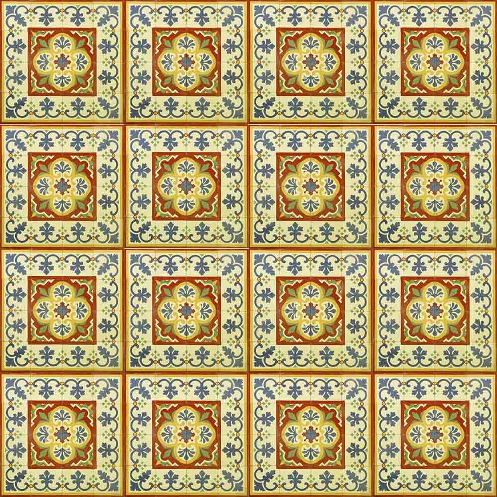 Adesivo para Azulejo Português Faro Vinil 15x15cm 16 peças Cosi Dimora