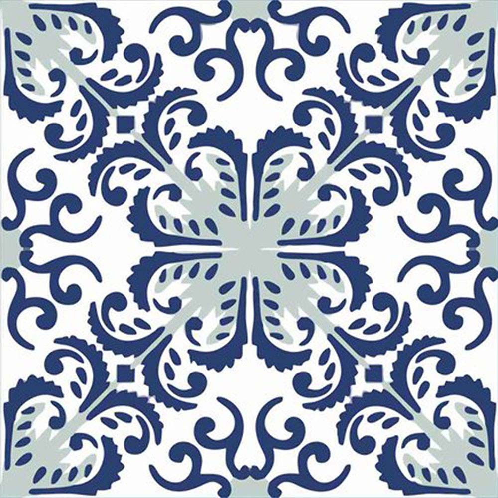 Adesivo para Azulejo Português Fátima Vinil 15x15cm 16 peças Cosi Dimora