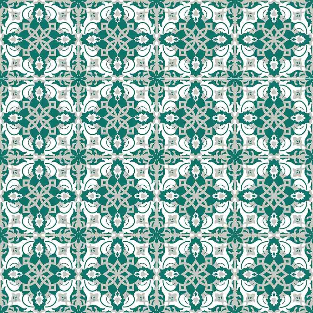 Adesivo para Azulejo Português Lagoa Vinil 15x15cm 16 peças Cosi Dimora