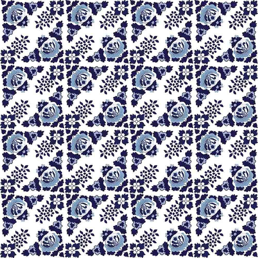 Adesivo para Azulejo Português Lisboa Vinil 15x15cm 16 peças Cosi Dimora
