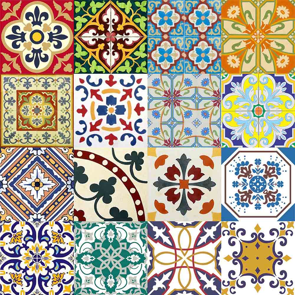 Adesivo para azulejo portugu s mosaico amarante 15x15cm 16 - Azulejo 15x15 ...