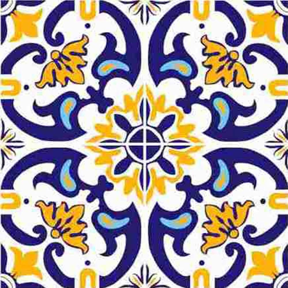 Adesivo para azulejo portugu s mosaico amarante vinil for Azulejos ceramicos