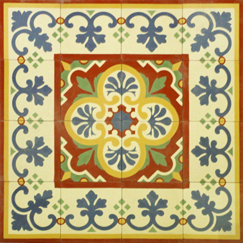 Adesivo para Azulejo Português Mosaico Amarante Vinil 15x15cm 16 peças Cosi Dimora