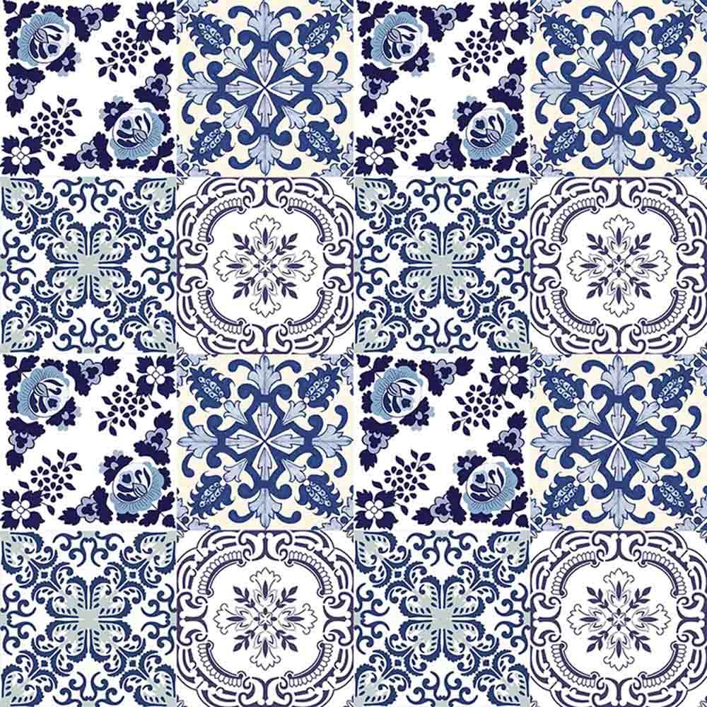 Adesivo para azulejo portugu s mosaico gouveia vinil for Azulejo mosaico