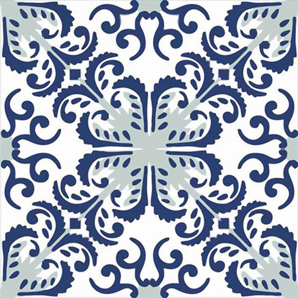 Adesivo para Azulejo Português Mosaico Gouveia Vinil 15x15cm 16 peças Cosi Dimora
