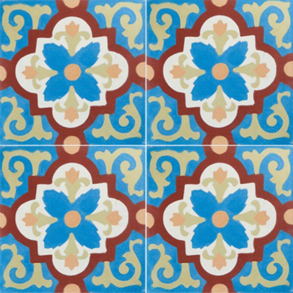 Adesivo para Azulejo Português Setúbal Vinil 15x15cm 16 peças Cosi Dimora