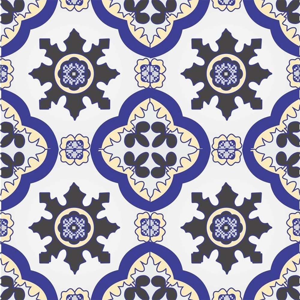 Adesivo para Azulejo Português Trofa Vinil 15x15cm 16 peças Cosi Dimora