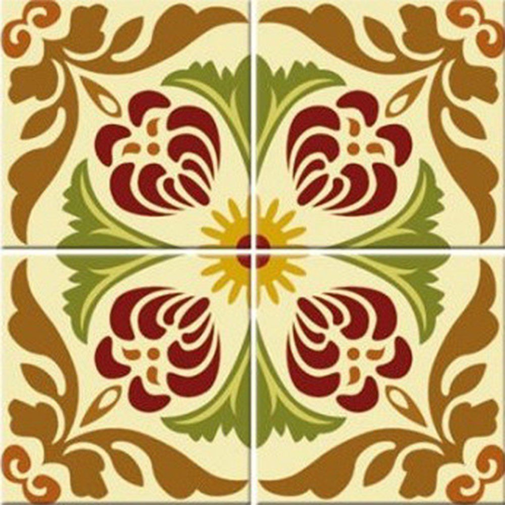 Adesivo para Azulejo Retrô Clássico Vinil 15x15cm 16 peças Cosi Dimora