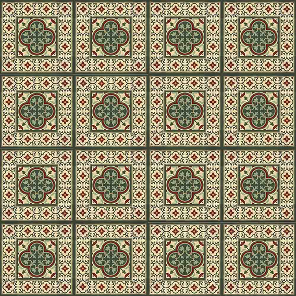 Adesivo para Azulejo Retrô Gaita Vinil 15x15cm 16 peças Cosi Dimora