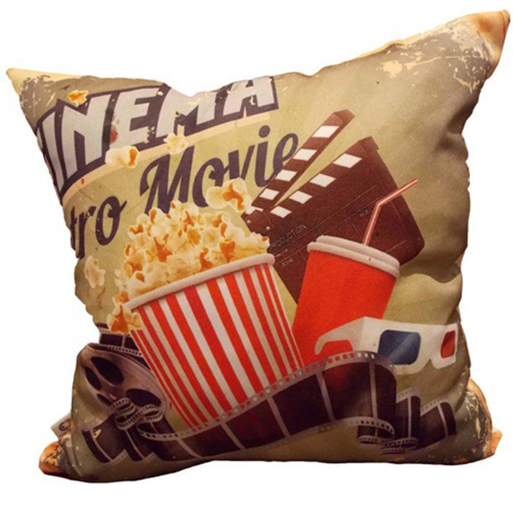 Almofada Cinema Retro Movie 40x40cm Cosi Dimora
