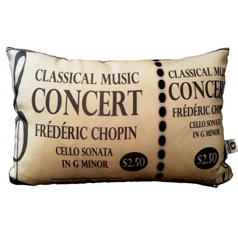 Almofada Classical Music Concert 25x35cm Cosi Dimora