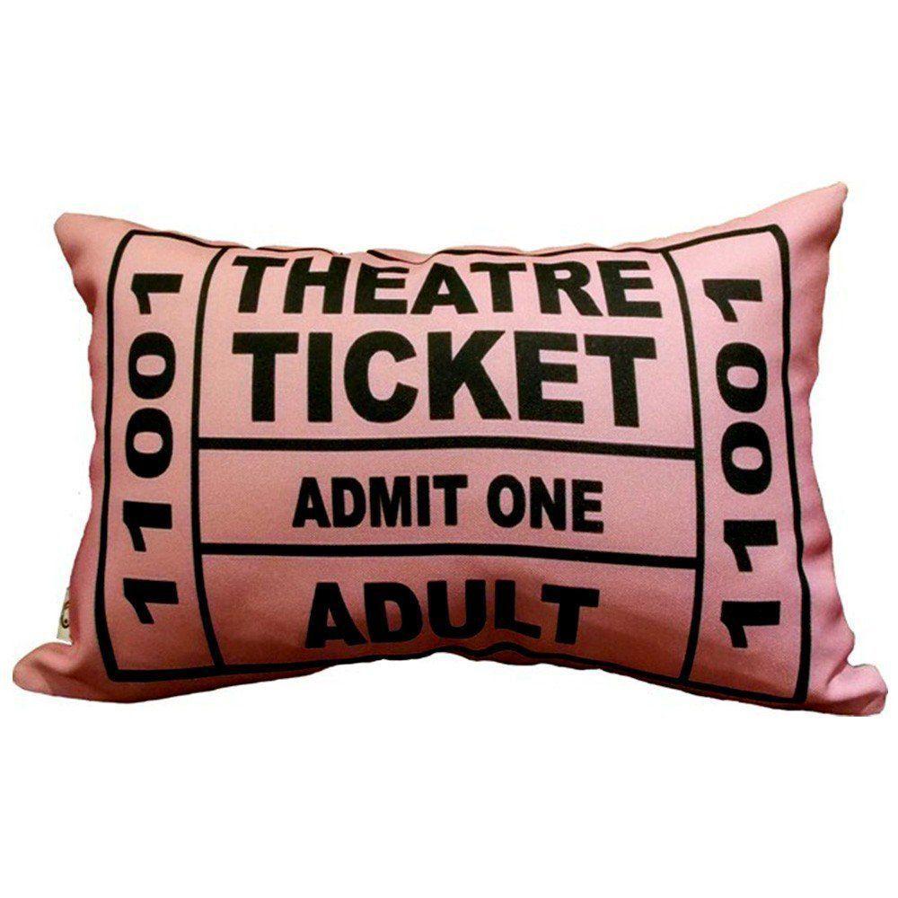 Almofada Theatre Ticket Rosa 25x35cm Cosi Dimora