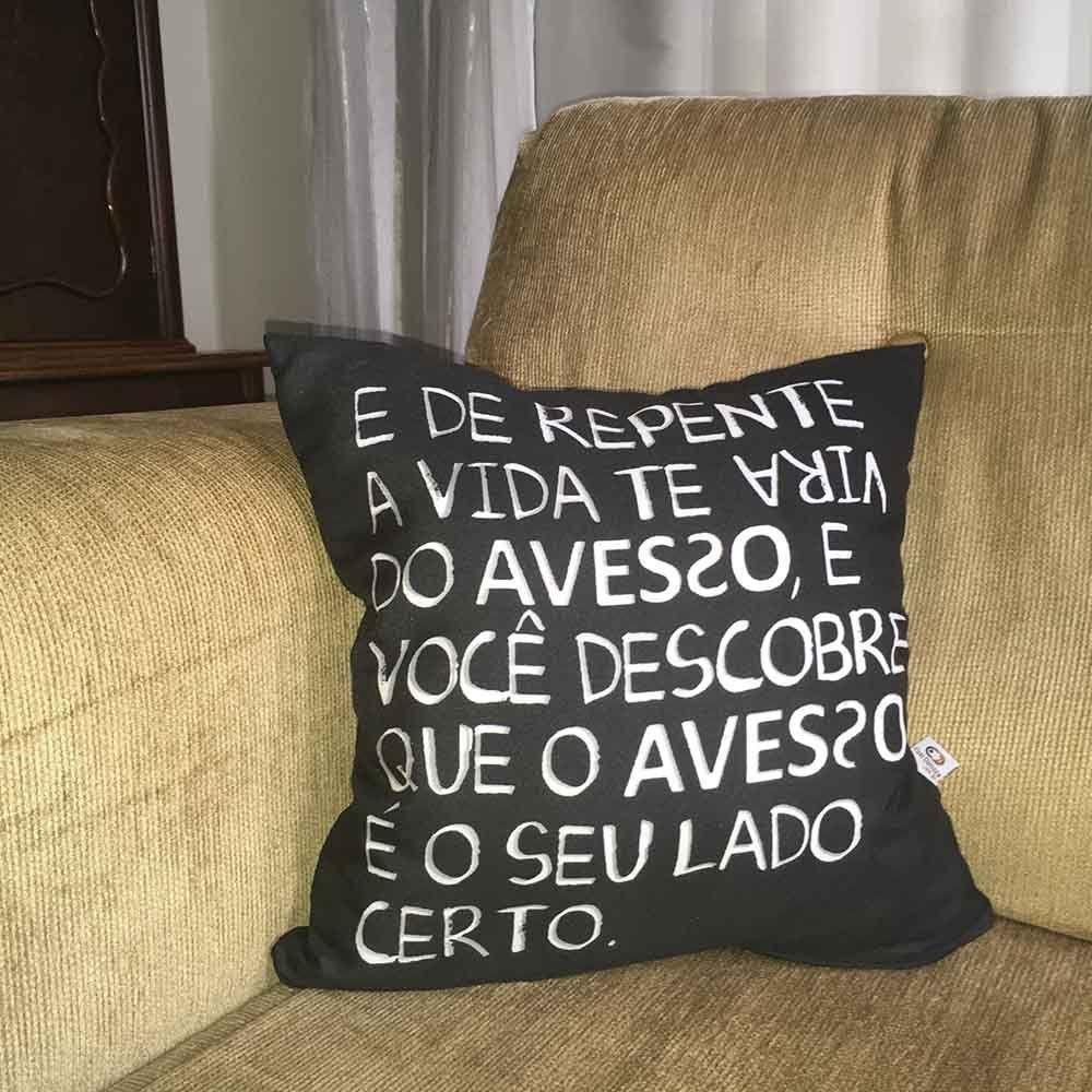 Almofada Vida do Avesso 40x40cm Cosi Dimora