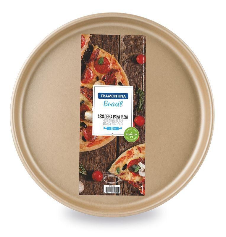 Assadeira para pizza Tramontina  de alumínio com revestimento interno antiaderente 30cm