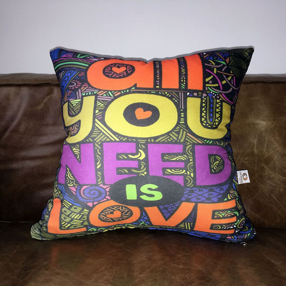 Capa de Almofada Beatles All You Need Is Love 40x40cm Cosi Dimora