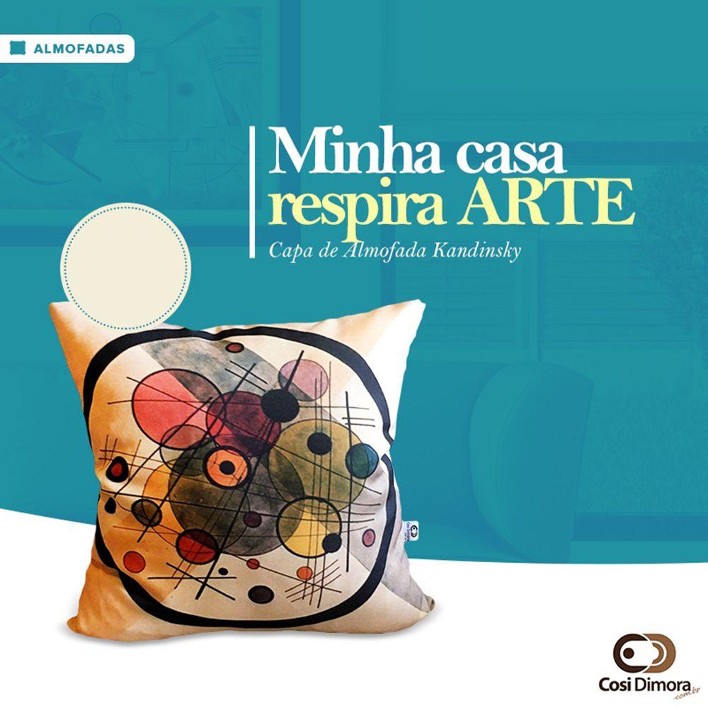 Capa de Almofada Kandinsky Kandi Opt 40x40cm Cosi Dimora